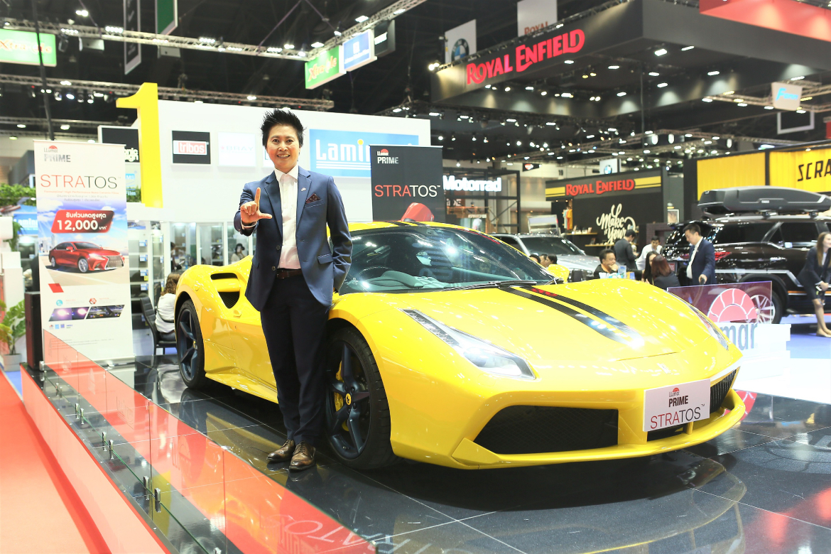 "Techno sell  lunching new product  ""LLumar Prime Stratos in Bangkok international Motor Show 40th"